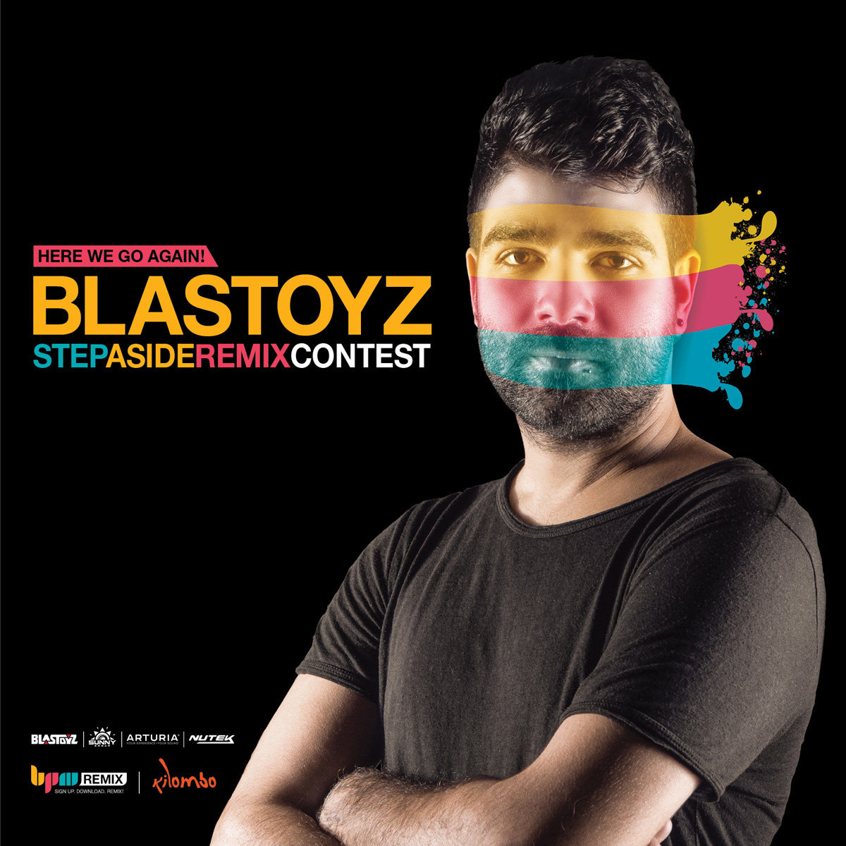 The winners of the BPMREMIX contest with Blastoyz